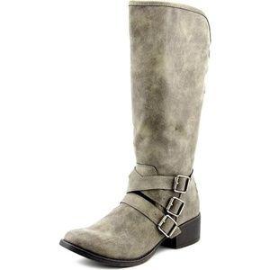 Madden Girl Dakota Gray Mid Calf Buckle boot